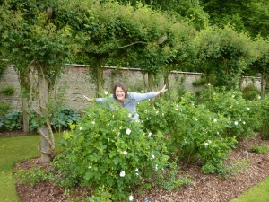 Steph Moon in the Rose Garden at Castle Howard