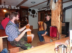 Entertainment in the Hutte
