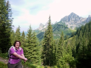 Steph hiking in Austria