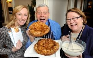 Author Elaine Lemm with Dickie Bird and Rosemary Shrager
