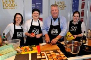 Steph with Brian Turner and Briony and Joanne from Love Food Hate Waste
