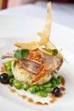 Local Partridge with Forager's Potato Cake and Blueberry Reduction