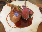 "James's ""Pipe and Glass"" style Rack of Venison with Yorkshire pudding"