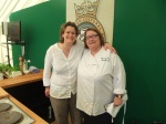 Rosemary and Steph at the Game Cookery Theatre