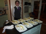 Chris waits for the souffle - I hope they like lemon!