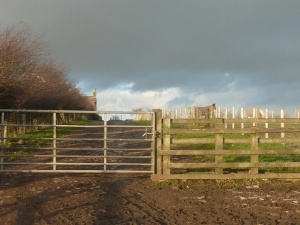 Through the gates.... Yorkshire looking mean, moody and magnificent!