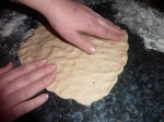 Fashion your pizza into the traditional shape or make your own!