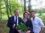 Peter, Tom and I foraged in the golf course woods at Rudding Park