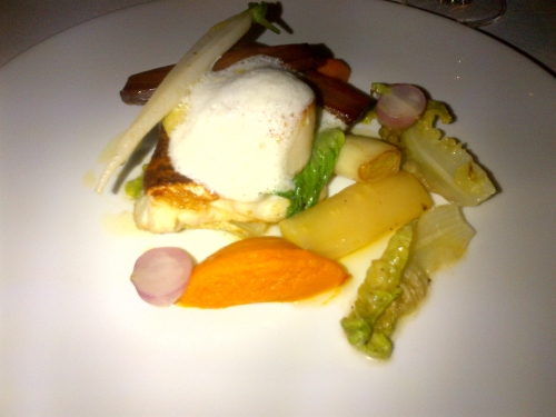 James Street South - Superb Cod dish with braised gem and carrot puree.